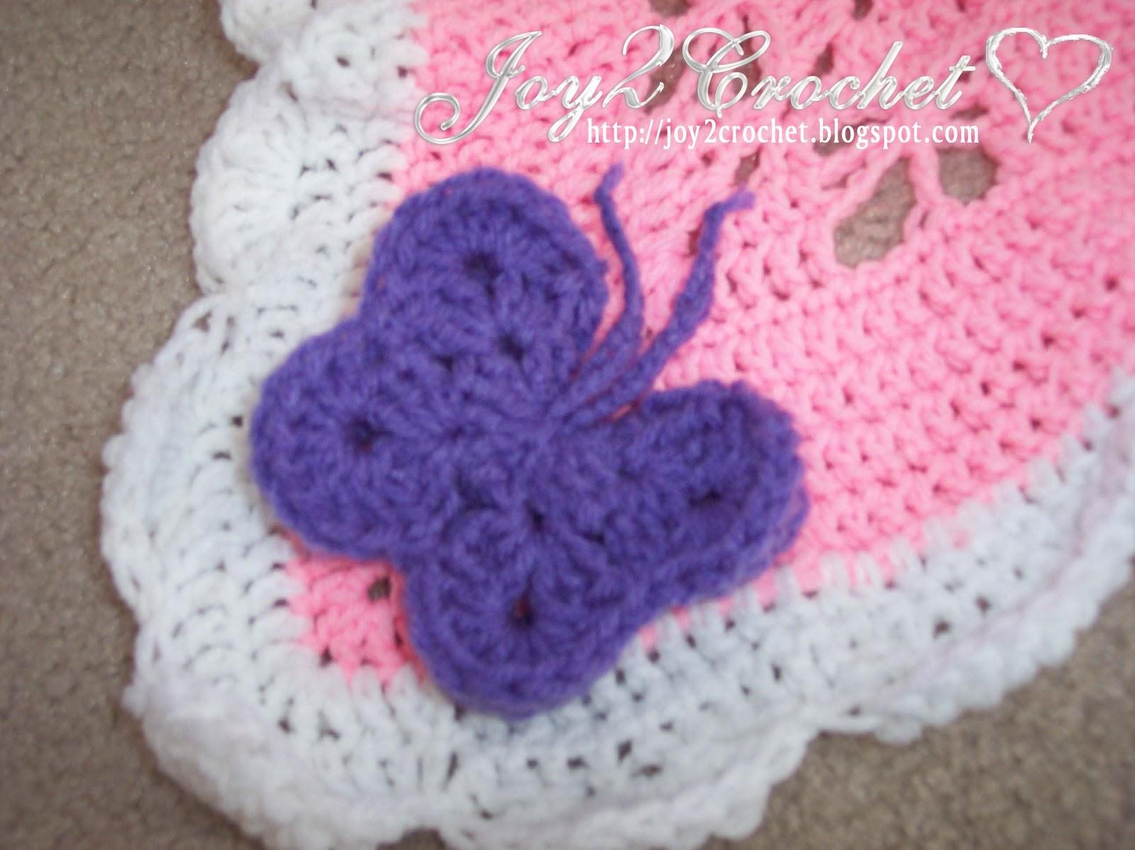 Butterfly Crochet Afghan Pattern Free : Free Crochet Butterfly Afghan Pattern