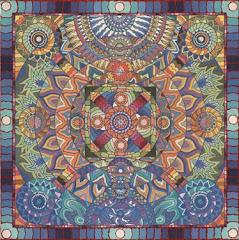 Mandala circle heart