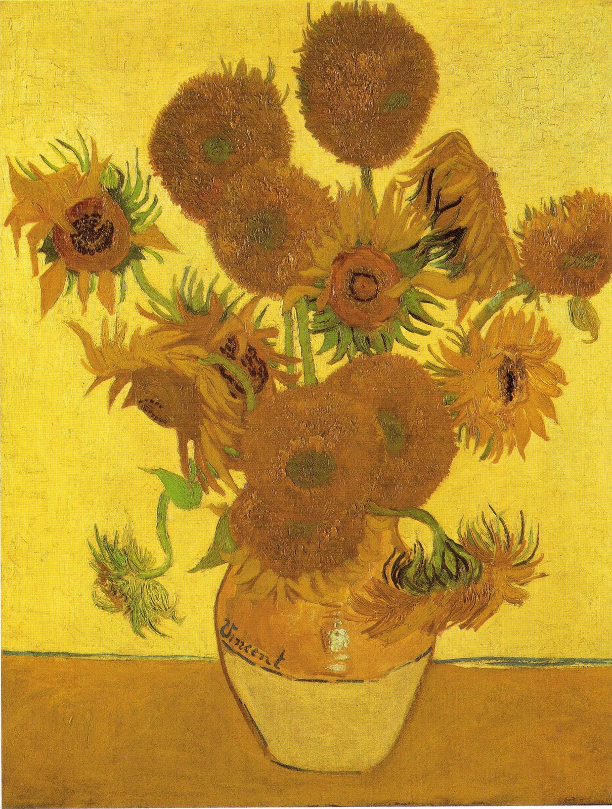 Famoso sauvage27: VASO CON I GIRASOLI (Sunflowers) - Vincent Van Gogh UK96