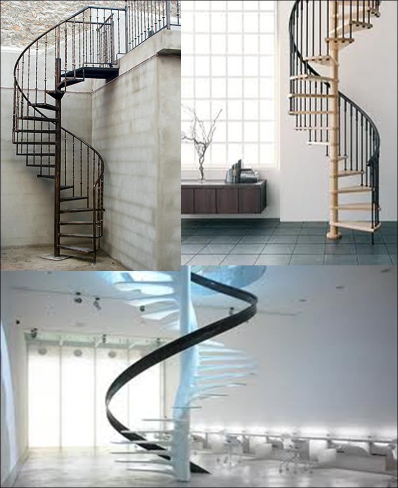 estas escaleras se utilizan en espacios reducidos