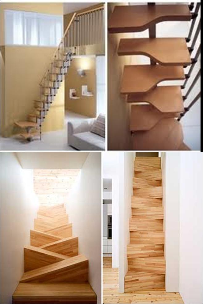 Construcci n acabados escaleras - Escaleras espacios pequenos ...