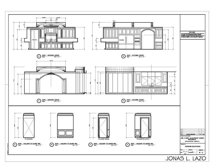 Modern Kitchen Elevation jonas lazo design studio: kitchen elevations in cad