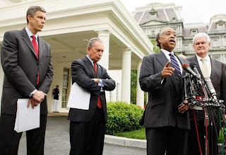 Arne Duncan, Al Sharpton and Newt Gringrich, campaigning for Race to the top