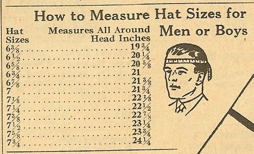 hat size:
