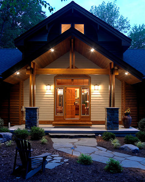 A dash of spectacular houses houses houses for Craftsman log homes