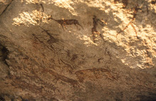 1000 – 2000 years old San-paintings near Murewa, Zimbabwe