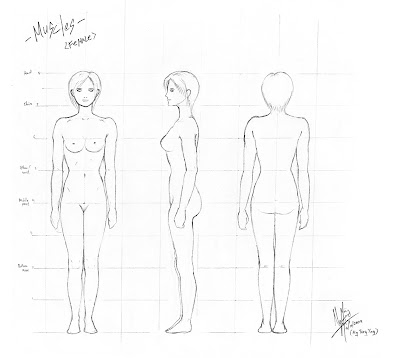 Fashion Mannequin Outline on Women Body Outline Template