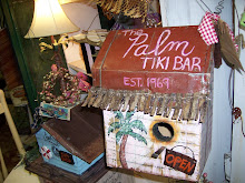 THE PALM TIKI BAR BIRDHOUSE