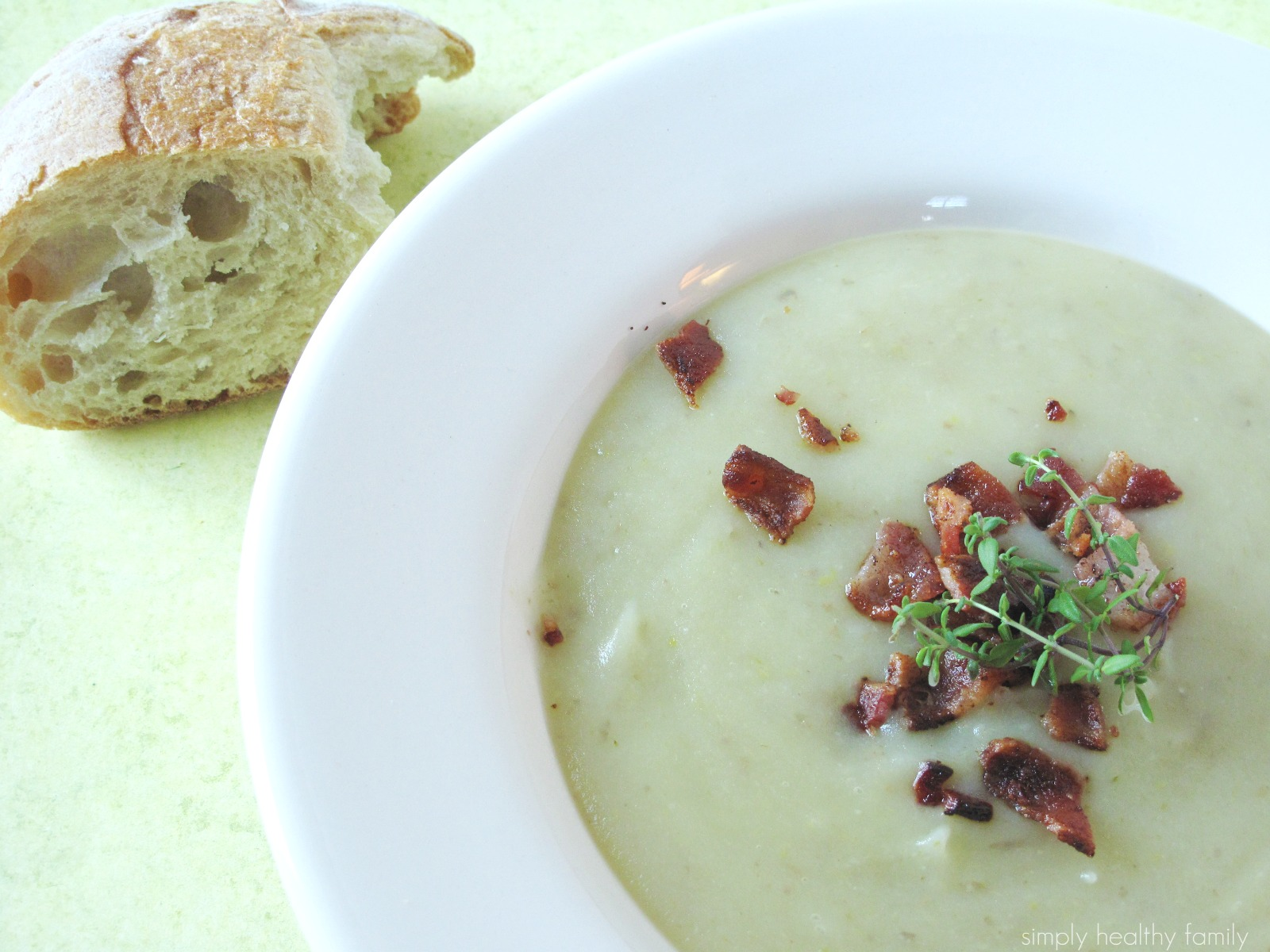 Simply Healthy Family: Potato Leek Soup Makeover