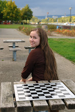 at the lake... waiting for someone to challege me in checkers