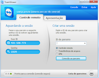 Usando o Team Viewer