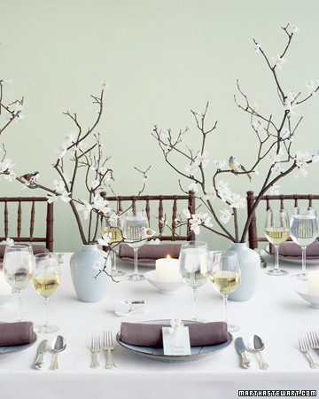 I like something like this Branch Centerpieces wedding