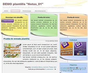 Descargar plantilla Notas_01