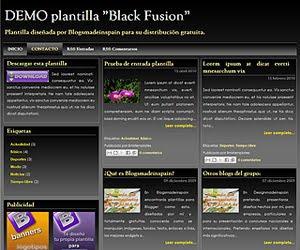 Descargar plantilla Black Fusion