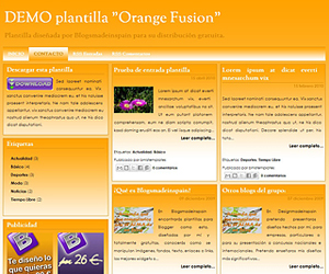 Descargar plantilla Orange Fusion