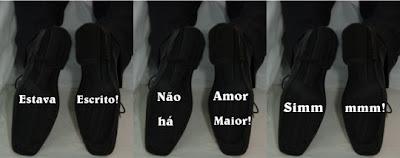 adesivo sapato noivo 3 site Novidades para Casamentos Sapatos com mensagens na sola