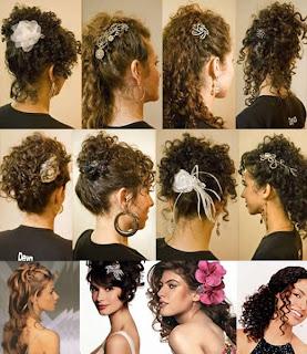 penteados cabelos cacheados Penteados Madrinhas e Noivas   Cabelos Cacheados ou Enrolados