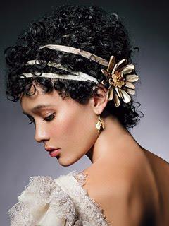 penteados+de+noivas+ +bandulete14 Penteados Madrinhas e Noivas   Cabelos Cacheados ou Enrolados