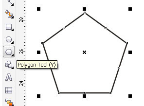 Langkah selanjutnya aktifkan shape tool dan drag kotak hitam kecil ke ...