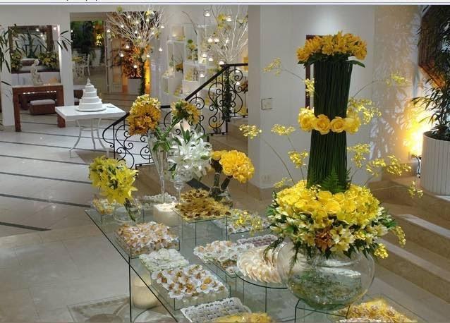 decoracao de noivado azul e amarelo simples : decoracao de noivado azul e amarelo simples:MISS FLORES: DECORAÇOES DE MESA DE BOLO