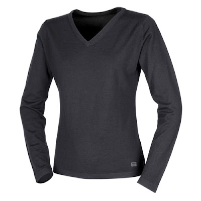 Women's Wool V-Neck Sweater, Black Volvo