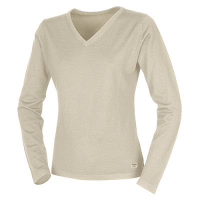 Women's Wool V-Neck Sweater, Sand Volvo