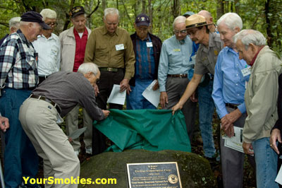 75th anniversary of the CCC in the GSMNP Memorial dedication