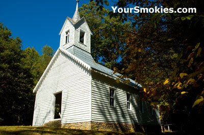 the Little Cataloochee Baptist Church and cemetery