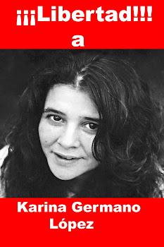LIBERTAD A KARINA GERMANO LÓPEZ, PRESA POLÍTICA EN ARGENTINA