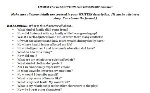 character discription essay This is all you need to know to write a character analysisâ the but examining the character from these three perspectives will help you write an exemplary essay.