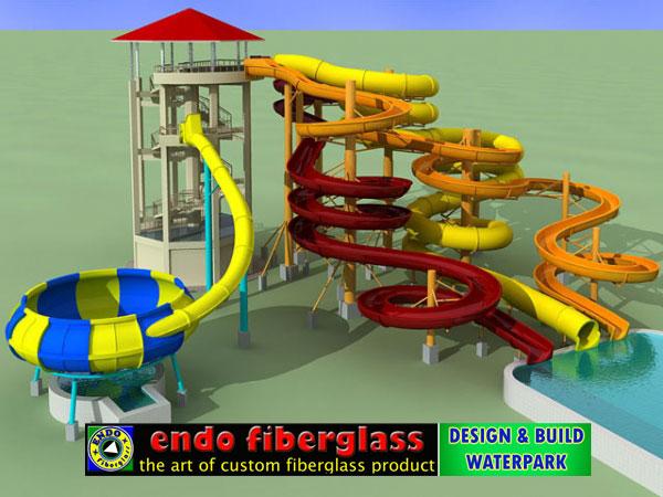Desain water slide