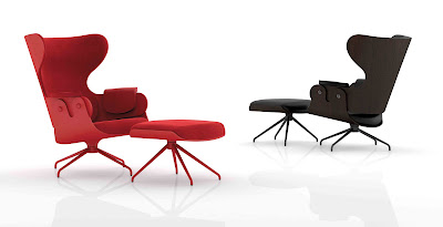 Showtime Lounger, a Classicism and Modernity Armchair and Ottoman by Jaime Hayon