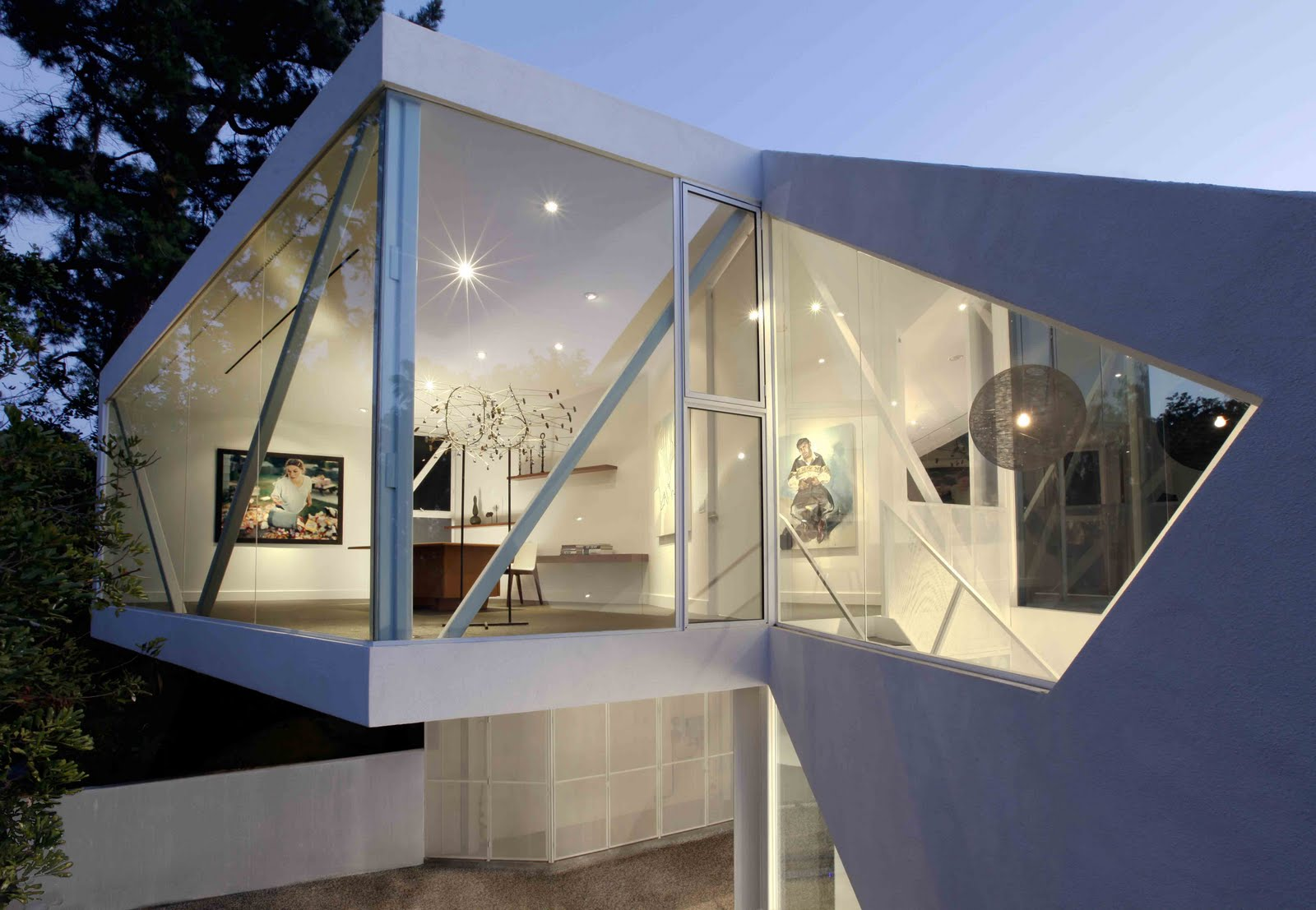 Galer a de arte en una residencia privada por xten for Arquitectura and design