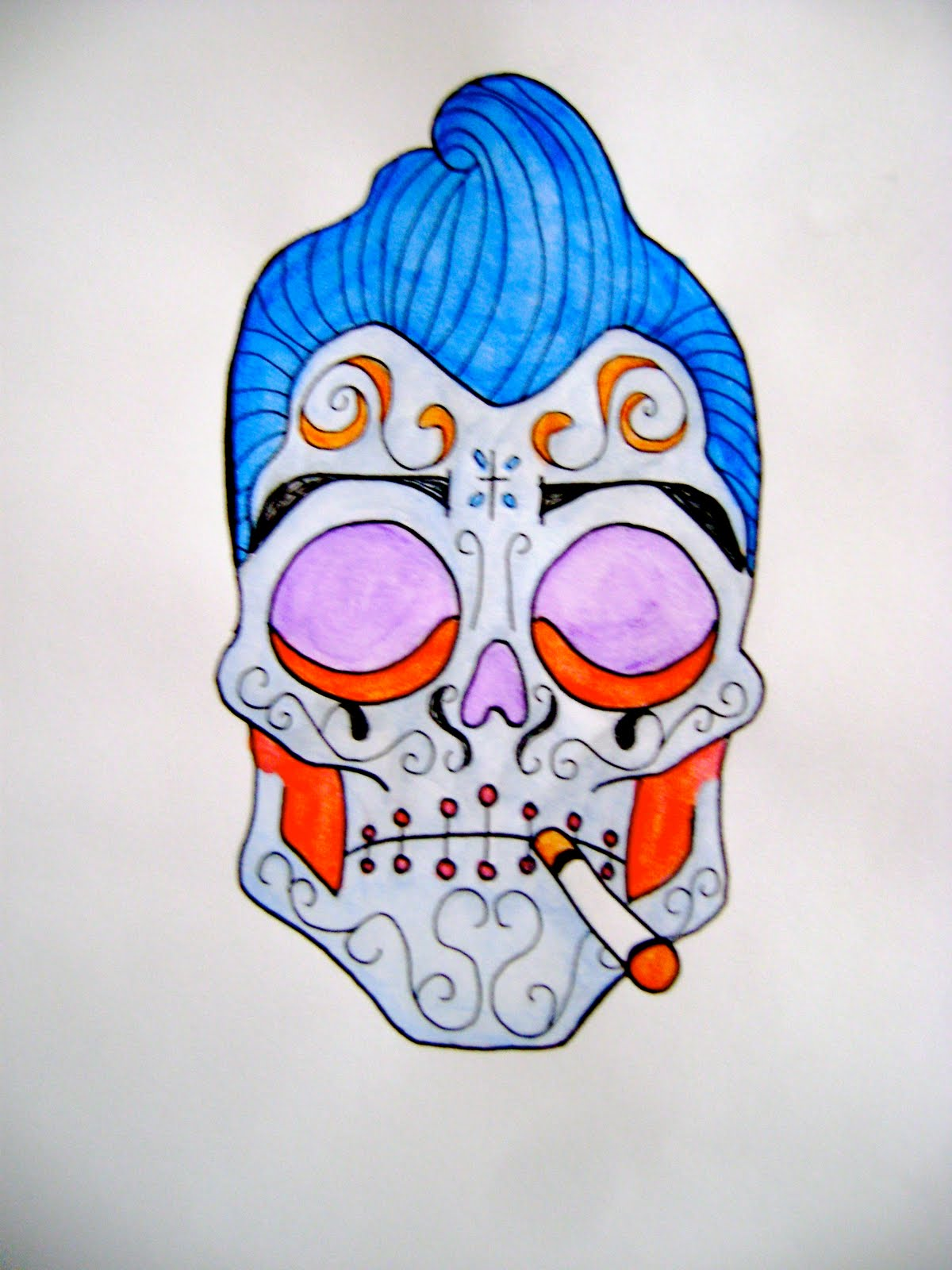 Sugar skull greaser man Greaser Sugar Skull