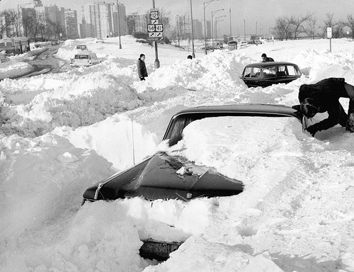during last night's blizzard February 2, 2011 in Chicago, Illinois.