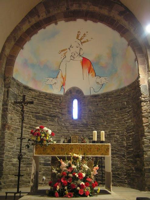 JESUSCHRIST. Mixta sobre pared. Iglesia de Sant Esteve, La Costa del Montseny, Barcelona