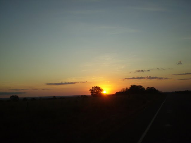 Pôr do sol.