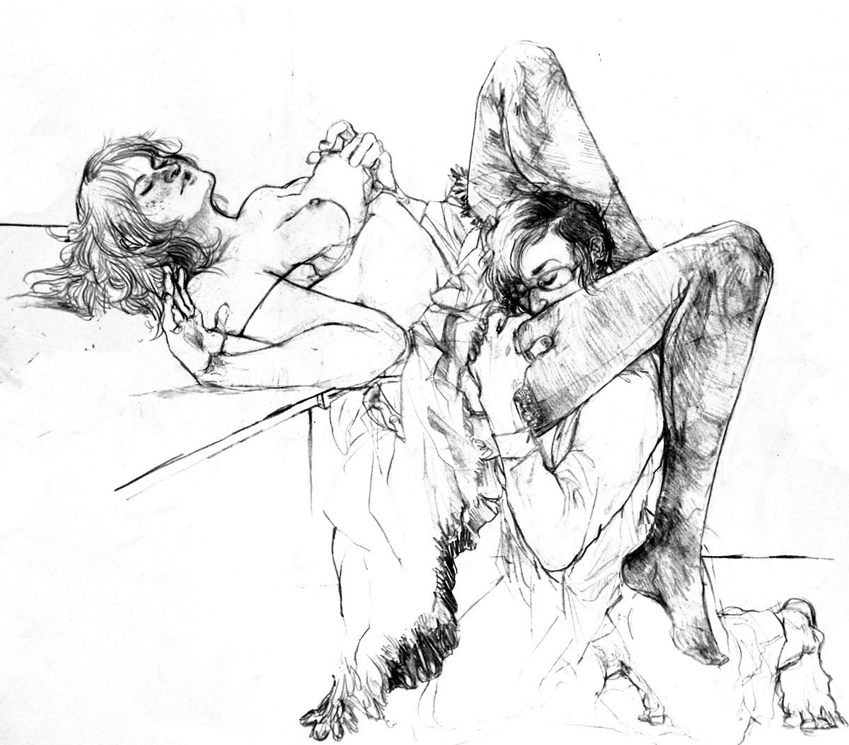 Erotic fucking pencil art nude photos