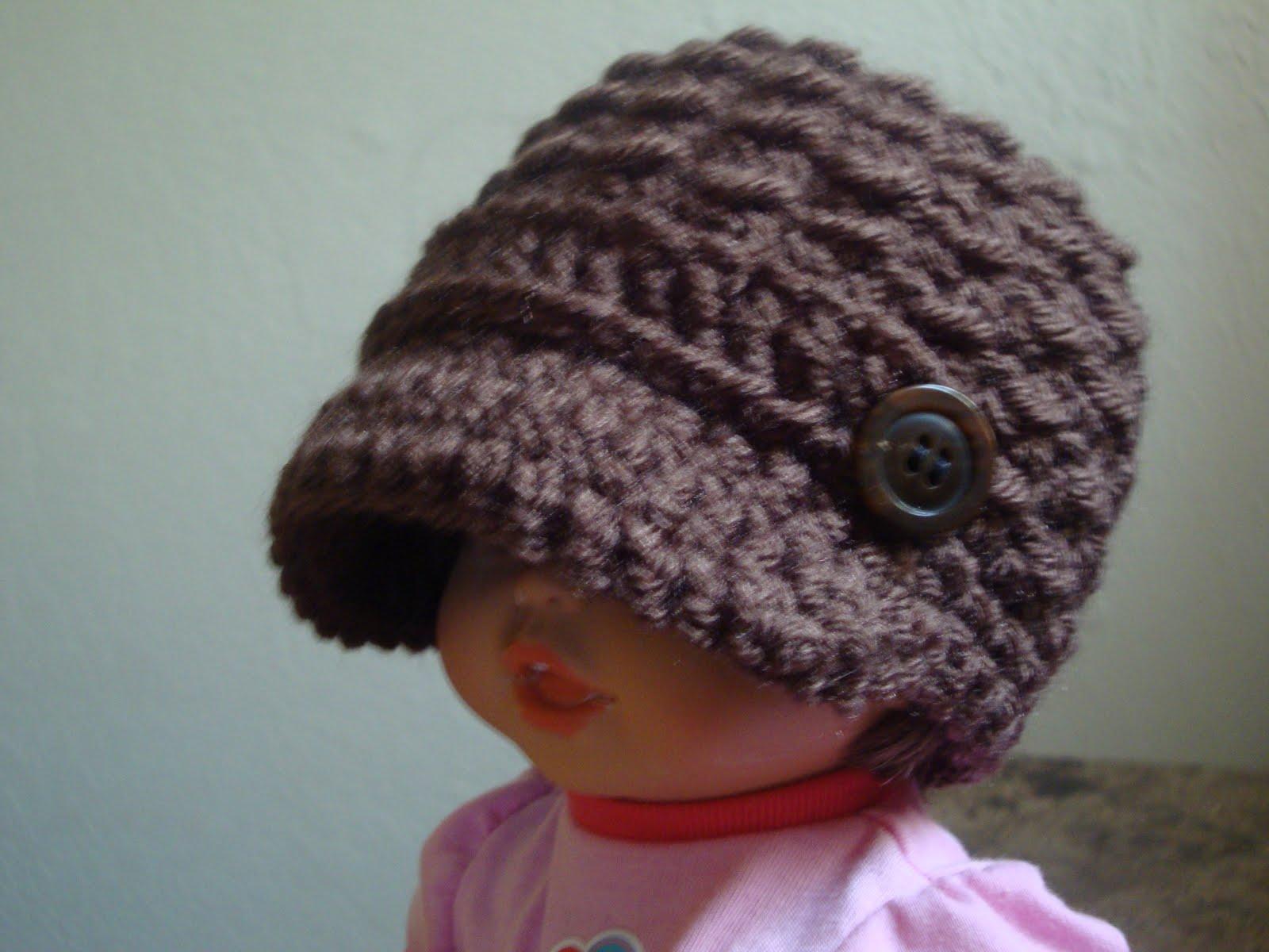 Free Crochet Pattern Baby Monkey Hat : free crochet baby newsboy hat patterns