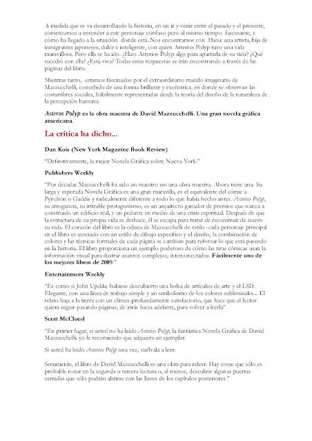 Asterios Polyp de David Mazzuchelli - 2