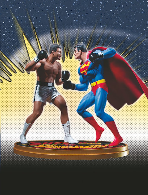 Superman vs Muhammad Ali - estatua