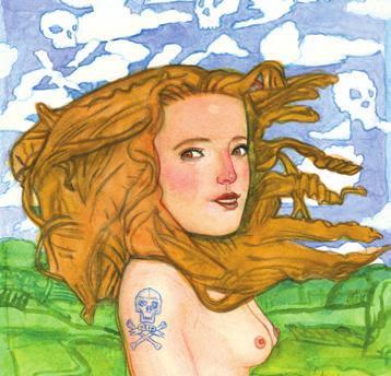 Ilustración de Pat Andrea para Las flores del mal de Charles Baudelaire
