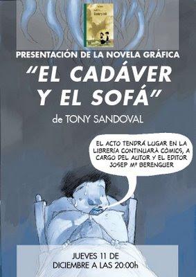 Presentación de EL CADÁVER Y EL SOFÁ, de Tony Sandoval