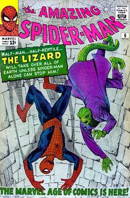 Spiderman y el Lagarto en Amazing Spiderman 6, Steve Ditko