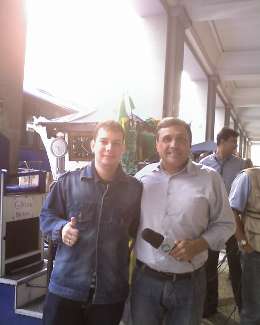 EU E QUERIDO AMIGO REPRTER DA REDE RECORD.