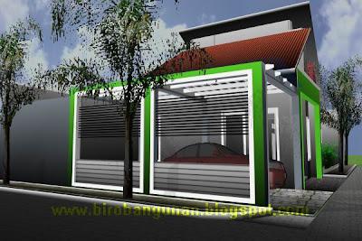 Model Rumah Minimalis on Desain Rumah Bpk Wempi   Desain Rumah Minimalis Di Lokasi Hook Pojok