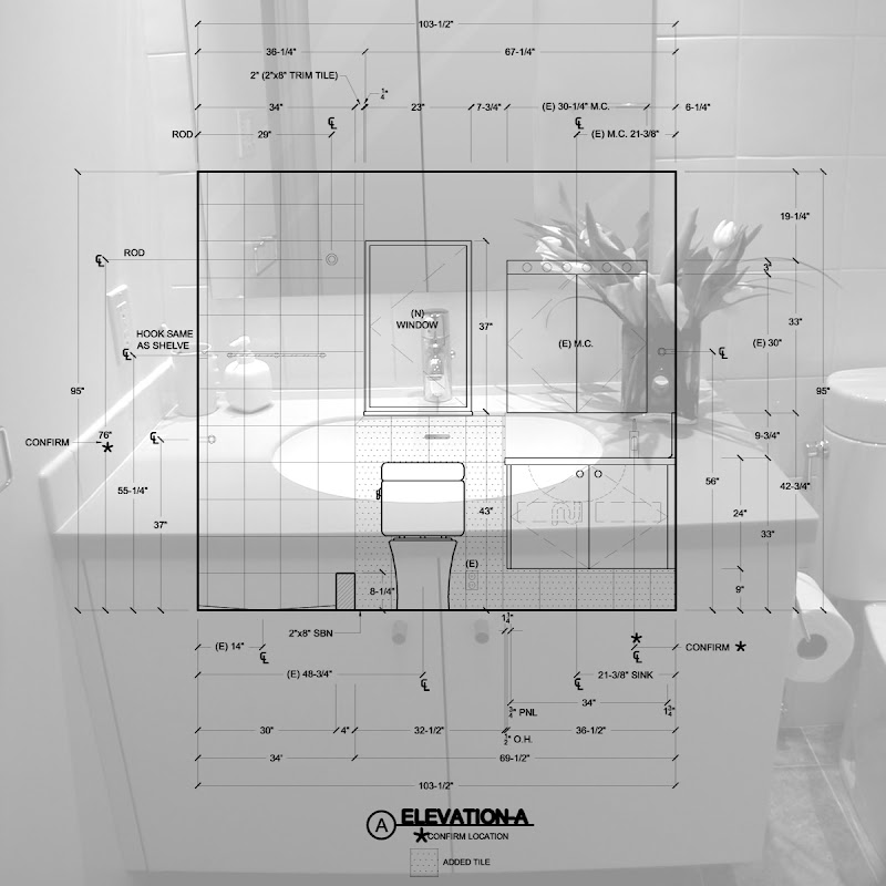 Standard 5'x 8' Bathroom Design & Construction Document title=