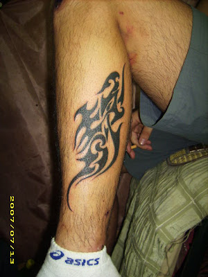 Chinese character free tattoo design on the leg