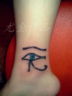 free eye tattoo on the ankle