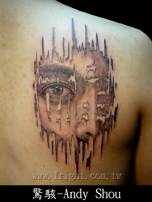 This tattoo is a pretty cool, very interesting idea.